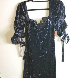 Women's Size Medium Crushed Velvet Dress
